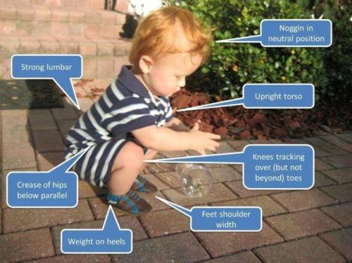 Los niños pequeños tienen una técnica de sentadilla perfecta: ¡no la pierdas con el paso del tiempo! http://t.co/FxnvPQG2Wf