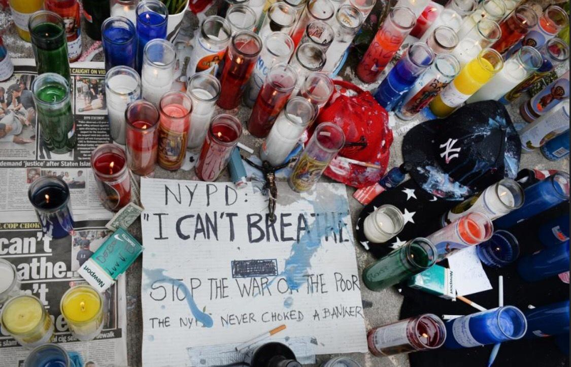 Eric Garner's chokehold was ruled a homicide NYPD never choked a Banker the NWO lynching must stop #Policebrutality http://t.co/V6OL3t09Ef