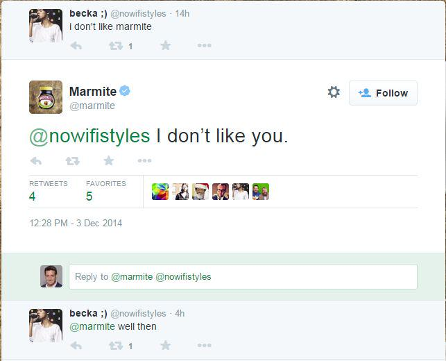 Dear @marmite you're doing Twitter RIGHT! #usingtwitterlikeaboss http://t.co/2yUhluNEyI