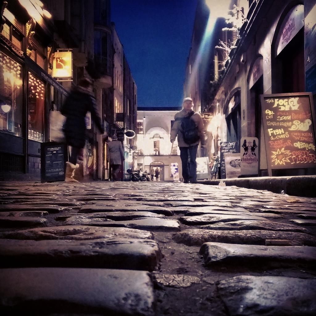 The streets of Dublin look beautiful tonight...