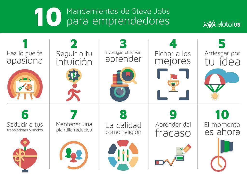 Los 10 mandamientos de Steve Jobs para #emprendedores by @Alotofus @jarevalo_FP http://t.co/yhgnH1pf0F