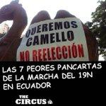 #Ecuador: Las 7 peores pancartas del #19N: http://t.co/YnlFmfabTW http://t.co/v6yAkWumzq