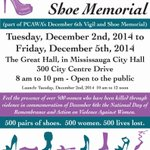 """WERE GOING TO MISSISSAUGA CITY HALL!!! """"In HER Honour: Shoe Memorial"""" will be on display at Mississauga City Hall! http://t.co/Y6NaApVy3l"""