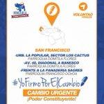 Salgamos mañana a firmar por la constituyente, conoce los puntos de #Maracaibo y #SanFrancisco #22N http://t.co/WXD8wVWC7B