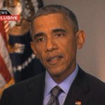 """Pres. Obama: Dont use Ferguson as """"an excuse for violence"""" - http://t.co/Y4qVJ0Xfty - @ThisWeekABC http://t.co/J1tuGElnzL"""