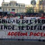 Profesores exigiendo dignidad y luchando por respeto a la profesión docente http://t.co/ZL8tyZ6nbH