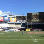 Check out the sights & sounds of @LehighFootball at Yankee Stadium #Rivalry150 #BeatLafayette https://t.co/gt9JCohOLa http://t.co/ImW5LjvRPb