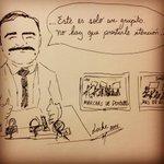 Lo que piensa Gajardo del #ParoDocente . No más abusos, SI a sueldos dignos. no a Gajardo. Caricatura hecha por mi. http://t.co/WvnXdZatYc
