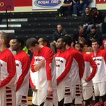 Huskies mens basketball ready for the anthem. Home opener. #BHuskieaProud http://t.co/bmGVuFGysS