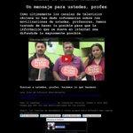 URGENTE: TVN hackeado ver http://t.co/6GfgddgAK0 en apoyo de #ParoDocente http://t.co/TF0YCuJ6pC