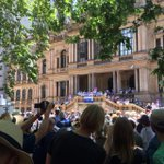 At the save the ABC rally, looks like a solid turnout. #ourABC http://t.co/llTZDlLG3T
