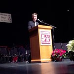 Kenny Edwards delivers the 2014 valedictory address in the form of a pitch for a TV series. #amdsb #StratfordON http://t.co/GcgE9OpDDK
