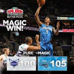 RT to celebrate this Magic win! Orlando comes back from a 23-point deficit in Charlotte! #PureMagic http://t.co/cNVJLLqcH9