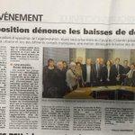 Les élus de la #CUC du @Cercle_Cotentin dénonce les baisses drastiques de dotations dans @LaPresseManche http://t.co/fsUmJZn8ws