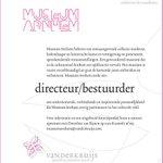 @MuseumArnhem zoekt een directeur/bestuurder: museumarnhem@vanderkruijs.com http://t.co/FmUkYpMraG
