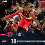 Final from DC  @JohnWall 28p-7a-6r-4st @RealDealBeal23 12p-5r-5a-3st @kevin_seraphin 12p-6r  #WizCavs #dcRising http://t.co/Jauwywso91
