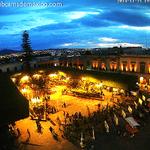 Plaza de Armas de #Querétaro en la hora azul de hoy. Vía @QroTravel http://t.co/OrEjwN61Ku