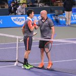 【ドリームテニスARIAKE】 錦織圭vsアンドレ・アガシ 夢の対決は錦織圭選手の勝利!アガシ選手の戦いぶりも素晴らしかったです! ⇒http://t.co/FoQK3kfMAv #wowow #tennis #錦織圭 http://t.co/dpocUpM3pO