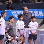 【ドリームテニスARIAKE】 国枝慎吾選手とマイケル・チャンの試合、始まりました! ⇒http://t.co/FoQK3kfMAv #wowow #tennis http://t.co/Uc7Q0VQLqq