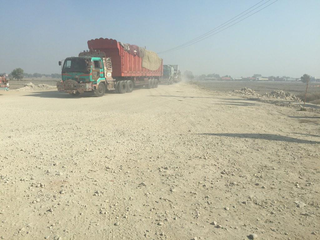 Gharidah Farooqi (@GFarooqi): This is National Highway! Larkana to Karachi #Sindh Attention PPP http://t.co/odPpNOnhRo