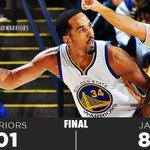 FINAL: #Warriors 101 - @utahjazz 86 http://t.co/oG1NO81PGp