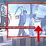 SP men caught on camera mercilessly thrashing a toll booth employee as onlookers simply watch #PartyLikeMulayam http://t.co/JEDqGVmEBY
