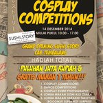 Cosplay Competition | 14 Desember 2014 | @ Sushi Story Tembalang Semarang | CP: 0838-4230-0948 #eventSMG http://t.co/DCCGy7ywaT