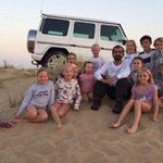 On Instagram photo, @HHShkMohd: I came across families enjoying the weekend in the desert with their children #Dubai http://t.co/ExVVfAanQq