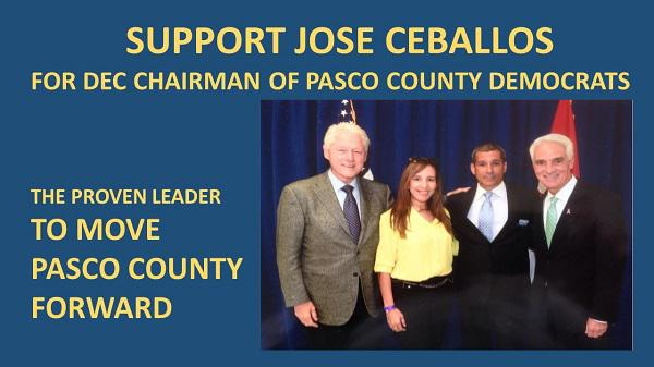 Pleased to support #TeamCharlie member @JoseCeballosFL for @PascoDems Chairman @PoliScrutiny101 #uniteblueFL http://t.co/W9Z0TVpGhg