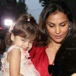 Bollywood @ 12 megapixels - Lara Dutta with her daughter.
