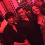 Shah Rukh Khan {@iamsrk} and Salman Khan at Arpita Khans Reception. http://t.co/cPMR1GTwFo