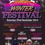 Dunfermline Christmas Lights Switch On TONIGHT (Sat, Nov 22nd). Programme & Info >> http://t.co/iQA8eVUZ6P