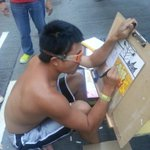 """Shirtless graffiti guy is called Eric MT: @ChuBailiang: always shirt-free, is the David Hasselhoff of Mong Kok. http://t.co/WsfoFrsMAa"""""""