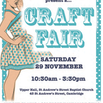 Theres a craft fair next Saturday at St Andrews Church #Cambridge organised by @CamBlueBellesWI. http://t.co/pwXojxoNLh