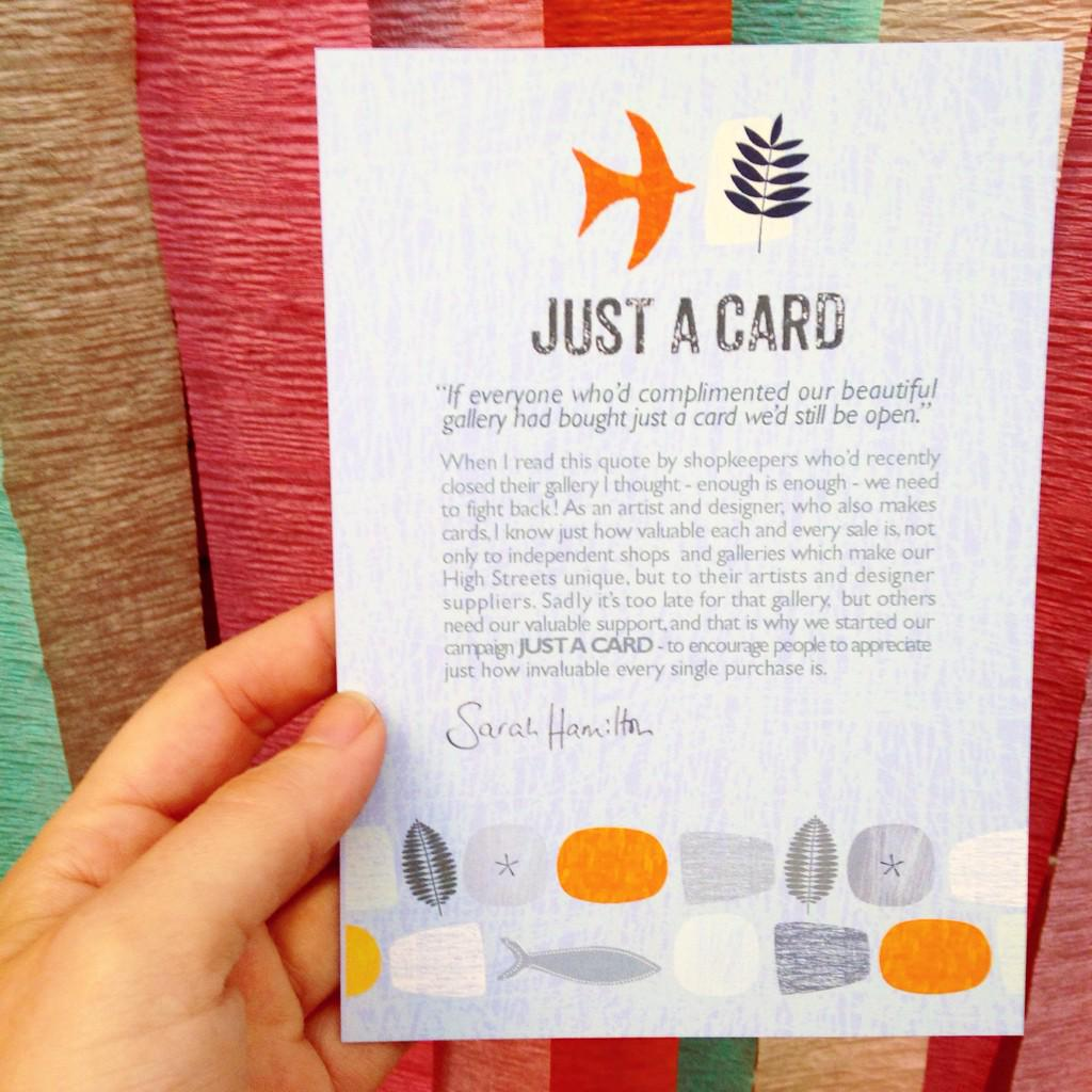 Along with @TheDesignTrust we're behind @SarahHamiltonPS's #justacard campaign for designers! http://t.co/CLh4TbruBR http://t.co/xlli81qiVc