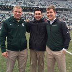 Seniors Geoff Carlson, Michael Maddalena & Andrew Kolpacki manage for the last time at Spartan Stadium #beatrutgers http://t.co/liwo1hvkAN