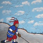 When I grow up, Ill be a great Hockey Player @SMUMensHockey Limt edition print by Hal Jones ^stairs @HfxSeaportMrkt http://t.co/cykrnd1dke
