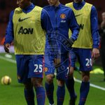 PIC: Valencia, Di Maria and van Persie warm up on the pitch. Not long until the action begins now. #mufclive http://t.co/XFsZoEnmGS