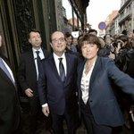 Hollande sifflé et hué par des manifestants à son arrivée au restaurant à Lille http://t.co/2rv1lRcLap http://t.co/YkL73Viqbj