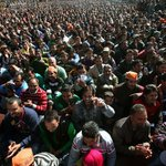This is from todays Modi rally in Kishtawar. YES, a BJP political rally in Kashmir is drawing this much crowd. http://t.co/mET4YmDXr8