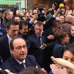 François Hollande et Martine Aubry après leur déjeuner http://t.co/UV43cSEYur
