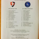Todays teams #ctfc #wwfc http://t.co/XzqfvdEkp2
