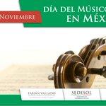 En #México se celebra hoy el #DíaDelMúsico, felicidades a quienes con sus canciones alegran nuestras vidas. http://t.co/JijdJ5YBnL
