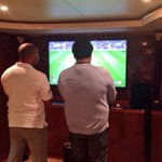 .@officialbarnesy playing #FIFA on the @StanChartUAE hospitality yacht at #AbuDhabiGP! Lets hope he wins! http://t.co/S0x32i7ewl