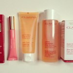 """The """"We Love @ClarinsCanada """" contest. Win this set. To enter, follow @davelackie & RT #loveclarins http://t.co/70zeifjwEp"""