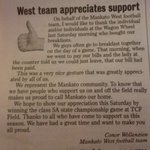 Just another example of why we are so proud of our football team. Nice job, Conner, and good luck today to our team! http://t.co/xI38JpWzwk