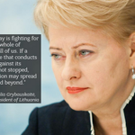 Lithuanian President @Grybauskaite_LT first leader who dares calling things the way they are. Via @EuromaidanPress http://t.co/xEJ5Juw2tj