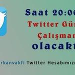 Saat 20:00'da Twitter Gündem Çalışmamız olacaktır!  @furkanvakfi Twitter Hesabımızı takip edin... http://t.co/wC8ObKsZ4v
