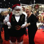 Ho Ho Ho with the real Santa Claus @seasonsshow with @WaveOnlineRadio Our booth is right next to Santas workshop!! http://t.co/QVweC1AyOH