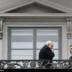 #PICTURE: #Iran FM Zarif & DepFM Araghchi in Palais Coburg Balcony. Saturday afternoon. #IranTalksVienna http://t.co/KwsVM2dO6d